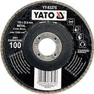 Lamellás korong Yato Lamellar csiszolókorong fémhez 125x22,4mm P100 - Lamelový kotouč