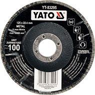 Lamellás korong Yato Lamellar korundkorong 125 x 22,2 mm konvex csiszolás P80 - Lamelový kotouč