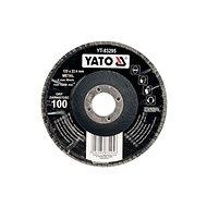 Lamellás korong Yato Lamellar korundkerék 125 x 22,2 mm konvex csiszoláshoz P100 - Lamelový kotouč