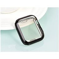 COTEetCI Teljes felületű termoplaszt védőtok Apple Watch 44 mm okosórához fekete - Védőtok