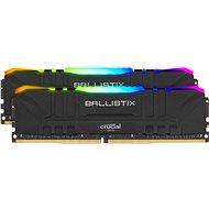 Crucial 16GB KIT DDR4 3600MHz CL16 Ballistix Black RGB - Rendszermemória
