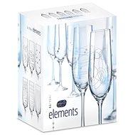 CRYSTALEX pezsgős poharak 190ml 6db ELEMENTS