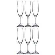 Crystalex LARA pezsgőspohár készlet 220 ml, 6 db