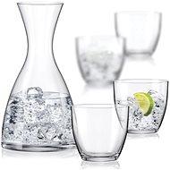 Crystalex WATER SET vízkiöntő és poharak készlet - Kiöntő