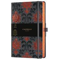 CASTELLI MILANO Copper&Gold Baroque, M-es méret Orange - Jegyzetfüzet