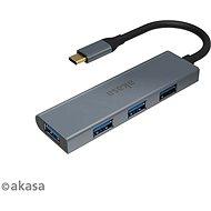 AKASA USB Type-C Hub - 4 x USB3.0 A / AK-CBCA25-18BK típusú - USB Hub