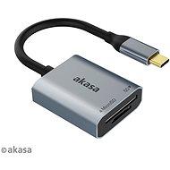 Kártyaolvasó AKASA SD a microSD USB C kártya olvasó / AK-CR-10BK