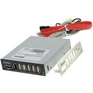 """AKASA 3,5""""rack Előlapi Csatlakozókkal  5x USB 2.0, 1x eSATA, 1x FireWire"""