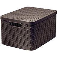 CURVER STYLE BOX tetővel L, 03619-210 – barna - Tárolódoboz