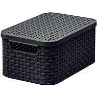 Curver tároló doboz RATTAN Style2 tetővel S - Tárolódoboz