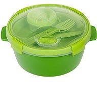 CURVER SMART TO GO 1,6 liter, evőeszközzel, kis tállal és tálcával - zöld