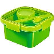 CURVER SMART TO GO 1,1 liter, evőeszközzel, kis tállal és tálcával - zöld - Edény