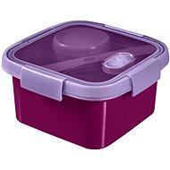CURVER SMART TO GO 1,1 liter, evőeszközzel, kis tállal és tálcával - lila - Edény