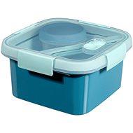 CURVER SMART TO GO 1,1l evőeszközzel, tálkával és kistálcával - kék - Edény
