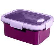 CURVER SMART TO GO 1,2 liter, evőeszközzel, kis tállal és tálcával - lila - Edény