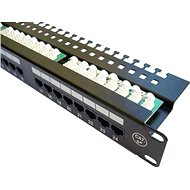 "DATACOM Patch Panel 19 ""UTP 24 port CAT5E LSA 1U BK (3x8p)"