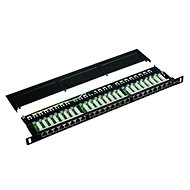"Datacom Patch panel 19"" STP 24 port CAT5E LSA 0.5U BK (3x8p)"