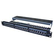 "Datacom Patch panel 19"" STP 24 port CAT6A LSA 1U BK (3x8p) /VL - Patch panel"