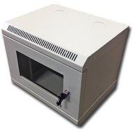 """Datacom 10"""" 6U / 280 mm (üveges) szürke - Kapcsolószekrény"""