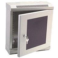 """Datacom 10"""" 6U / 140 mm (üveges) szürke - Kapcsolószekrény"""