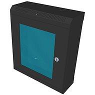 """Datacom 10"""" 9U / 140 mm (üveges) fekete"""