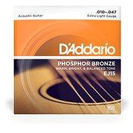 Daddario EJ15 Phosphor Bronze Extra Light - .010 - .047 - Húr
