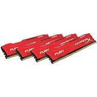HyperX 32GB KIT DDR4 2666MHz CL16 Fury Red sorozat - Rendszermemória