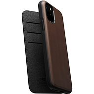 Nomad Folio Leather Case Brown iPhone 11 Pro - Mobiltartó