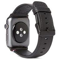 Decoded Leather Strap Apple Watch 44/42 mm, fekete - Tartozék