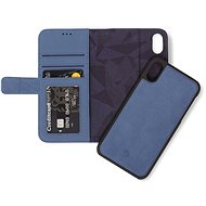 Decoded Leather 2in1 Wallet Blue iPhone XS/X - Mobiltelefon tok