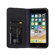 Decoded Leather Wallet Case Black iPhone 8/7/6s/SE 2020 - Mobiltelefon tok