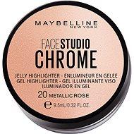 MAYBELLINE NEW YORK Face Studio Chrome Jelly Highlighter 20 Metallic Rose 9,5 ml - Púder