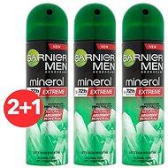 GARNIER Men Mineral Xtreme Spray Antiperspirant 3× 150 ml - Férfi izzadásgátló