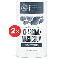 SCHMIDT'S Signature aktív szén + magnézium 2 × 58 ml - Férfi dezodor