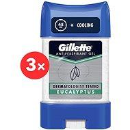 GILLETTE Gel Eukaliptusz 3 × 70 ml - Férfi izzadásgátló