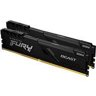 Kingston FURY 32GB KIT DDR4 3200MHz CL16 Beast Black 1Gx8 Kingston FURY 32GB KIT DDR4 3200MHz CL16 B - Rendszermemória