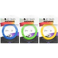 3DSimo filament ABS - kék, zöld, sárga 15m - Nyomtatószál 3D tollhoz
