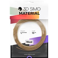 3DSimo filament WOOD - barna 15m - 3D nyomtató szál