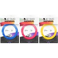 3DSimo filament HIPS - kék, rózsaszín, sárga 15m - 3D nyomtató szál