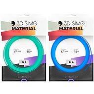 3DSimo Filament FLUORESCENT kék, zöld 15m - Nyomtatószál 3D tollhoz