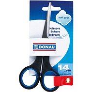 Irodai olló DONAU 14cm Soft Grip fekete/kék - Kancelářské nůžky