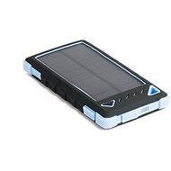 DOCA Powerbank Solar 8000mAh fekete-kék - Powerbank