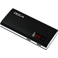DOCA Powerbank 13000mAh QC fekete - Powerbank