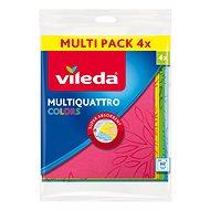 VILEDA Multiquattro Colors szövet 4 db