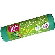 VIPOR LDPE Top Extra szilárd 240 l, 10 db, zöld - Szemeteszsák