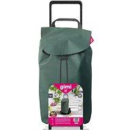 GIMI Tris Floral bevásárlókocsi zöld színben - Gurulós bevásárlótáska