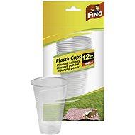 FINO Műanyag pohár 200 ml, 12 db - Pohár