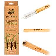 PANDOO hosszú bambusz szívószál 12 db.os szett, tisztítókefékkel - Szívószál