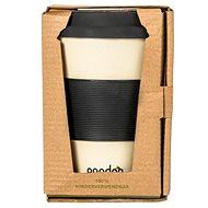 PANDOO újrafelhasználható bambuszcsésze kávéhoz és teához 450 ml fehér - Pohár