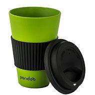 PANDOO újrafelhasználható bambuszcsésze kávéhoz és teához, 450 ml zöld - Pohár